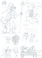 Undertale sketchy madness [WARNING: SPOILERS] by ClaraKnight