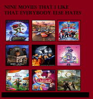 Top 9 Movies that I liked that Everyone Else Hated by PurfectPrincessGirl