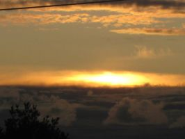 cloudy sunset by Charon1