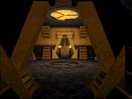 Stargate - Ring room on a Hatak ship by Hercool