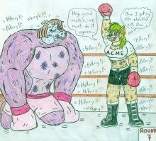 Boxing Hillary Hyena vs Princess Apehands by Jose-Ramiro