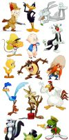 Looney Tunes doodles by nmrbk