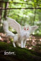 Gryphon albino by Furrykami-creatures
