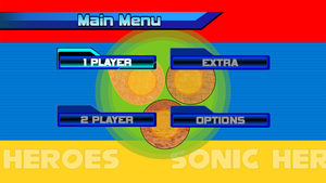 Sonic Heroes Main Menu recreation by Cristails