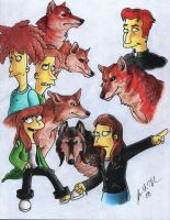 The Simpsons: Werewolf Protectors of Springfield by The-StarDog
