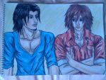 Genesis and Angeal casual by lustyvampire