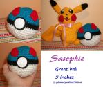 Great ball amigurumi by Sasophie