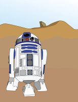 R2-D2's Bad Day - Desert by FencerScokeFaofa