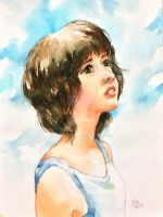 watercolor portrait by young920