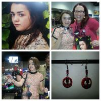 Maisie Williams(Game of Thrones)loving my earrings by MadHouseTrinkets