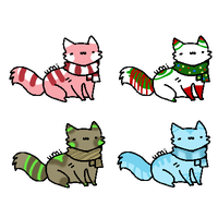 winter kitties -Closed- by Gravitii