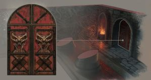 Mortal Kombat Door Detail by atomhawk