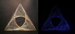GlowInTheDark Triforce-y PaperEmbroidery by pinkythepink