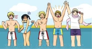 APH: Allied Beach Party by thingy-me-jellyfis