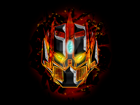 RobotLogo-Flame by 7Leaps4Ward