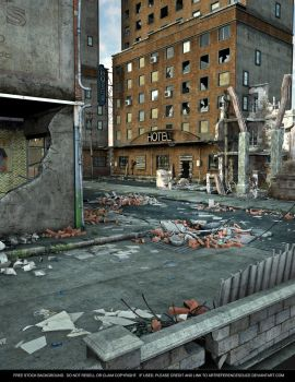 FREE STOCK Background - Destroyed City by ArtReferenceSource