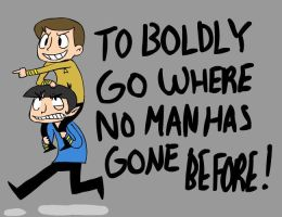 ST: Riding Spock by SugarKills