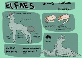 Elfaes Reference Sheet by Karijn-s-Basement