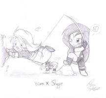 KP: Shego's new move BW by HazuraSinner