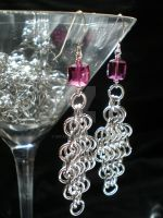 Chain Maille Crystal Earrings by eitanya