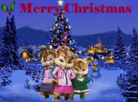 Chipettes Christmas 2009 by alittlegrim