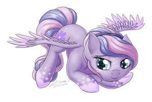 Purple Blossom Sticker by Novaintellus
