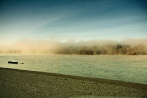 Foggy morning on the Danube 4 by Csipesz