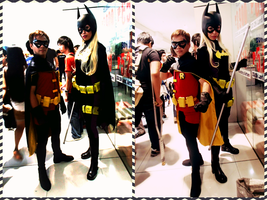 Robin and Batgirl by izabelcortez