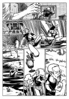 Comic Sample - Page 4 Inks by ahmettorun