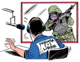 Honduras No freedom of speech by Latuff2