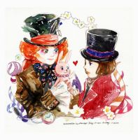 Hat-lovers by amoykid