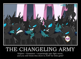 The Changeling Army by Blue-Paint-Sea