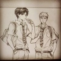 Eren and Jean by yujin147