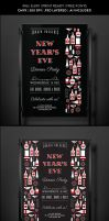 New Year's Eve Party Flyer Template by jamiefang