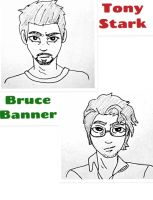 Science Bros- Face Sketches by Lady-of-Ratatosk