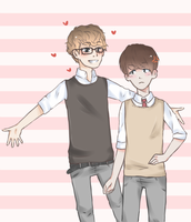 chanbaek says hi by sehuns-hips