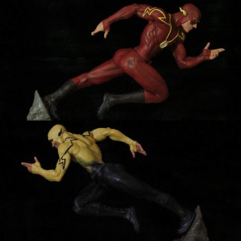 Flash and reverse flash by Mr--Blueberry