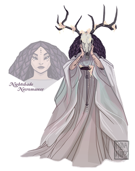 [closed] Adopt - Nightshade Necromancer by fionadoesadopts