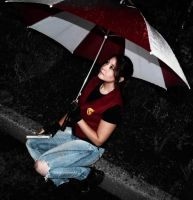 Waiting under the rain by Shiro-Redfield