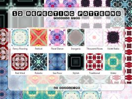 12 Repeating Patterns by Kaze-Hime