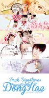 Pack Signatures HappyBirthday DongHae by Heoconkutecu