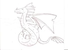 Water Dragon -uncolored by Bugabooloo