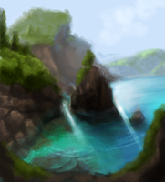 watery place speedpaint part deux by foxwell