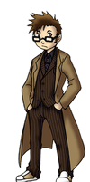 Chibi 10th Doctor by TwinEnigma