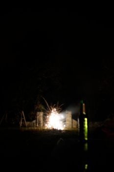 Beer and fireworks by Fogmeister
