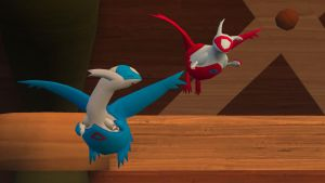 Latios and Latias flying by Shaymin303