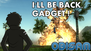 Youtube Thumbnail : I'll be back, Gadget ! by Obisam