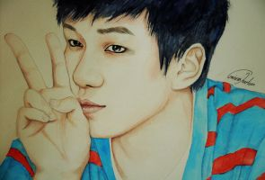 VIXX: Hyuk (Art trade) by TheCorinna