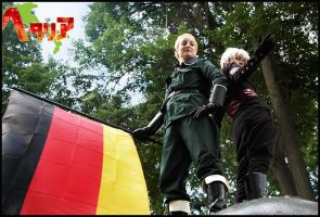 Hetalia: Germany and Prussia by penragonwebsite