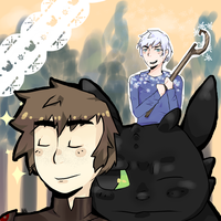 Jack frost and hiccup by nada1ai